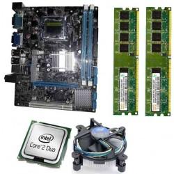 Zebronics 41D2 Motherboard Kit 2.66 Ghz Intel Core2 Duo CPU, 4GB DDR2 RAM & Processor Fan