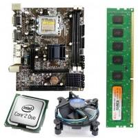 Zebronics 41 Mother Board + Intel Core 2 Duo 2.66 GHZ + 2 GB DDR3 RAM +Fan