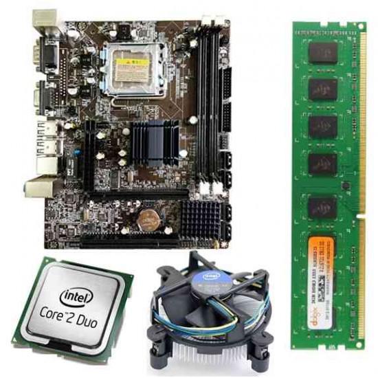 Zebronics 41 D3 Mother Board + Intel Core 2 Duo 2.66 GHZ + 2 GB DDR3 RAM +Fan