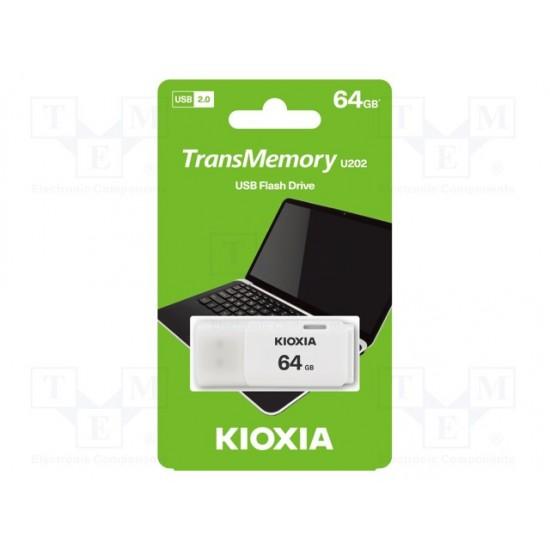 Kioxia 64GB USB PenDrive 2.0 White by Toshiba