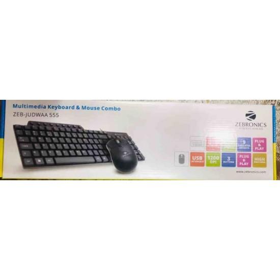 Zebronics JUDWAA 555 Wired USB Desktop Keyboard (Black)