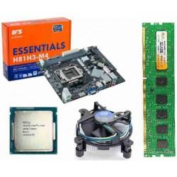 ECS H 81 Mother board + Core I -5 (4th (4460 or Higher) ) + 4 GB DDR3 + Fan