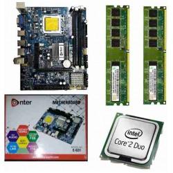 Enter G 31 + 2.66 core 2 duo + 2 gb DDR 2 ram + fan Motherboard Combo