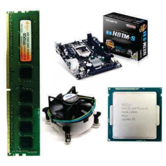 Gigabyte 81 Mother board + Core I -3 (IVth Generation) + 4 GB DDR3 + Fan