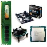 Gigabyte 81 Mother board + Core I -3 (IVth Generation) + 8 GB DDR3 + Fan