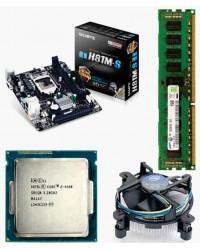 Gigabyte 81 Mother board + Core I -5 (IVth Generation) + 4 GB DDR3 + Fan