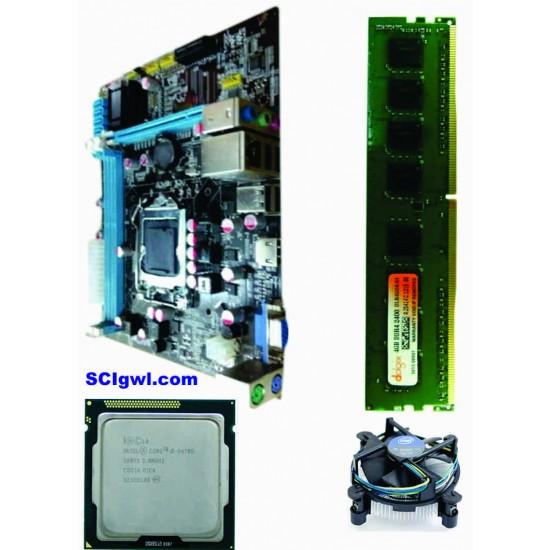 H 61 Mother board + Core I -5 (IIIrd - 3470 S) + 4 GB DDR3 + Fan