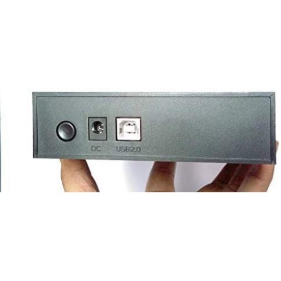 "Terabyte 2in1 USB 2.0 External Dual Hard Drive Casing for 2.5"" & 3.5"" Sata Hard Drives HDD Enclosure"
