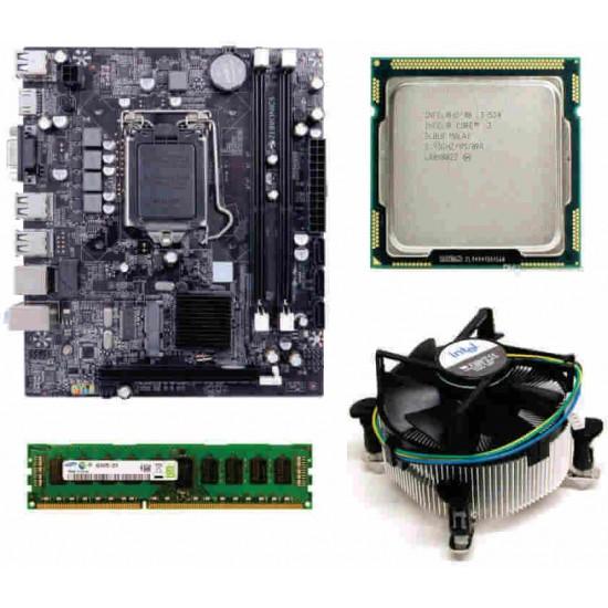 Maxsonic H55 Mother board + Core I -3 (Ist Gen) + 4 GB DDR3 + Fan