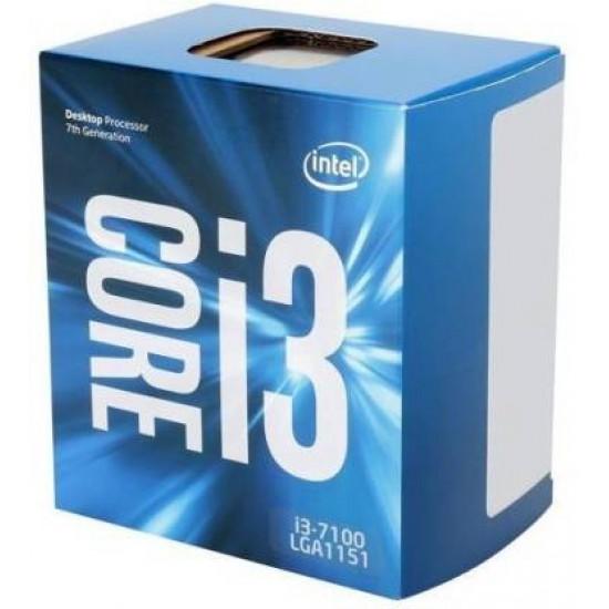 Intel Core i3-7100 7th Generation 3.9 GHz LGA 1151 Socket 2 Cores 4 Threads 3 MB Smart Cache Desktop Processor