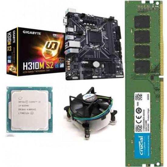 Gigabyte H 310M-S2 Mother board + Core I 3 (8350K) + Ram 8 Gb DDR 4 Motherboard Combo