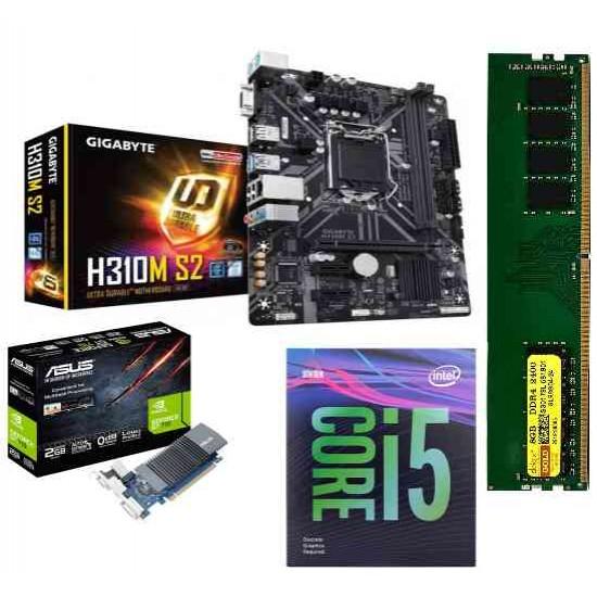 Gigabyte H310M-S2 + CORE I5-9400 F PROCESSOR + RAM 8 GB DDR 4+ 2gb Graphic Card Motherboard Combo