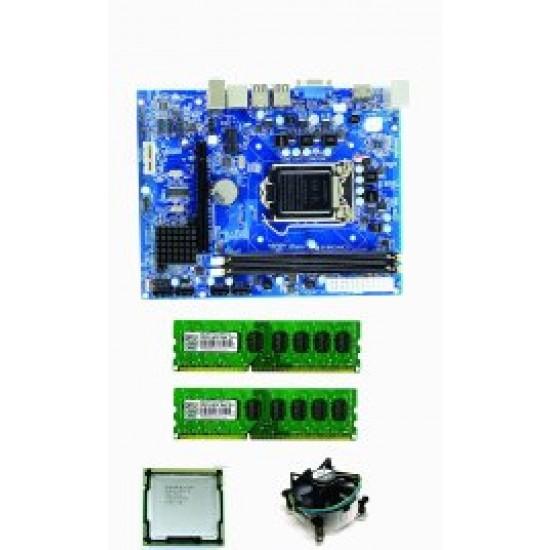 Core I5 (Ist) + H 55 + 4 GB III RAM+Fan