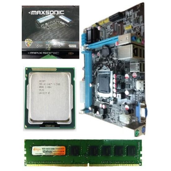 Maxsonic 61 Mother board + Core I -5 (IInd Generation) + Ram 4 Gb DDR 3 + Fan
