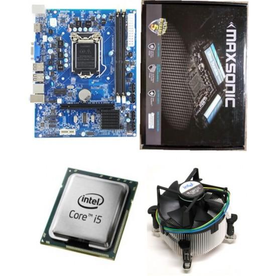 Core I5 650 3.2 GHz + Maxsonic 55 Intel Chipset Motherboard + Fan