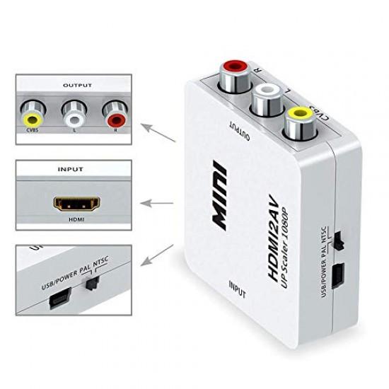 Terabyte Mini HDMI2AV UP Scaler Full HD 720/1080p Video Converter Media Streaming Device