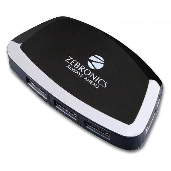 Zebronics Zeb-500 HB 4 Port USB Hub for Laptop, PC Computers Optional Power Adapter Port