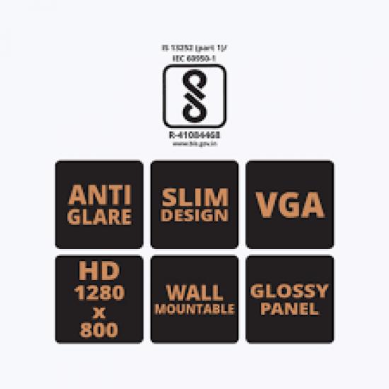 Zebster 15.1 inch LED Backlit Monitor (VGA) by Zebronics