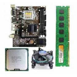 Zebronics 41 Mother Board + Intel Core 2 Quad - Q-8400 - 2.66 GHZ + 4 GB DDR3 RAM +Fan