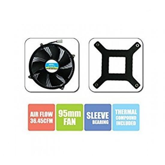 Zebronics CPU Cooling Fan For Socket LGA 775 Cooler (Black)