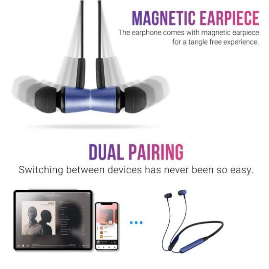 Zebronics Zeb-Lark Wireless in Ear Neckband Earphone with BT 5.0, Rapid Fast Charging