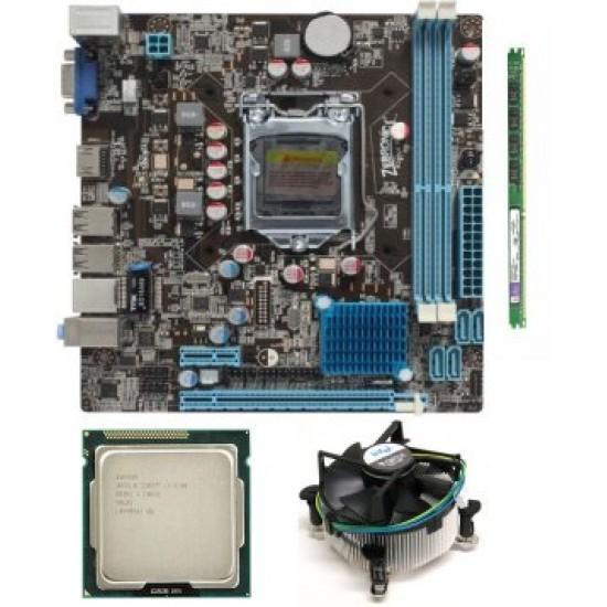 Zebronics 61 Mother board + Core I -3 (IInd Generation) + 4 GB DDR3 + Fan